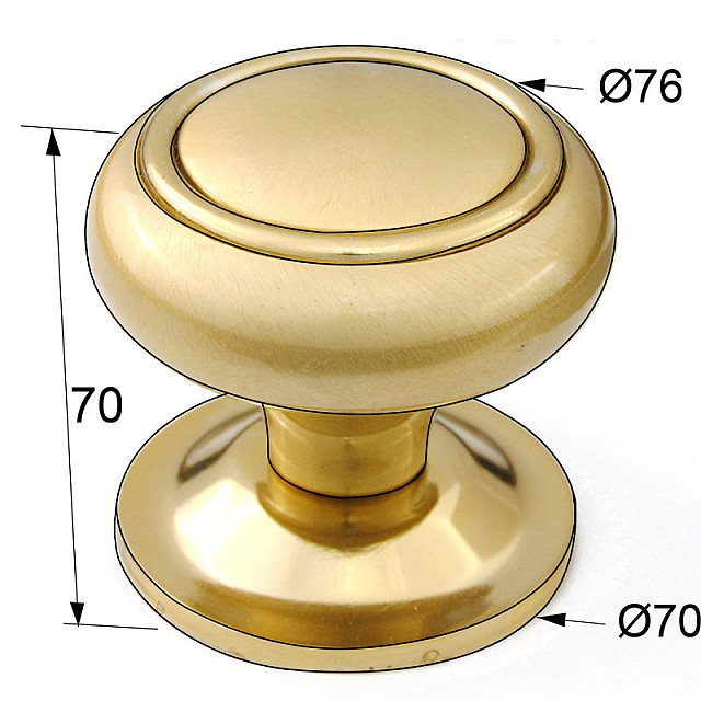 DOOR KNOB WITH RING / MAT ORO - ORO